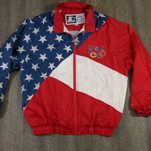Starter 1996 VTG Olympics USA Windbreaker XL